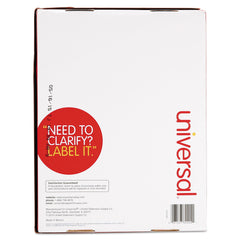 Universal White Labels, Inkjet/Laser Printers, 2 x 4, White, 10/Sheet, 250 Sheets/Box - White / 2 x 4