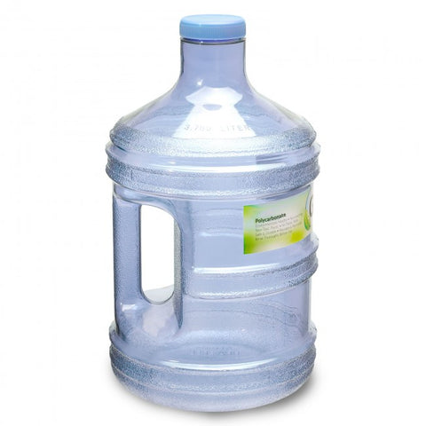 Polycarbonate Round Water Bottle - Natural Blue