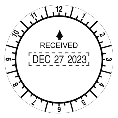 Trodat Trodat Round Stamp, Time and Date Received, Conventional, Two-Inch Diameter