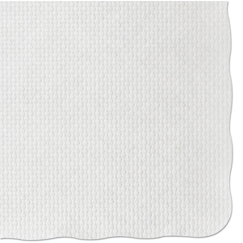 Hoffmaster Knurl Embossed Scalloped Edge Placemats, 9.5 x 13.5, White, 1,000/Carton