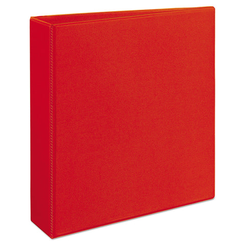 "Avery Heavy-Duty View Binder with DuraHinge and Locking One Touch EZD Rings, 3 Rings, 2"" Capacity, 11 x 8.5, Red"