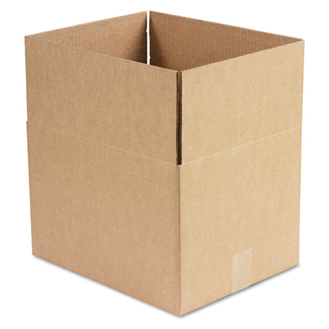 "General Supply Fixed-Depth Shipping Boxes, Regular Slotted Container (RSC), 15"" x 12"" x 10"", Brown Kraft, 25/Bundle - Brown Kraft"