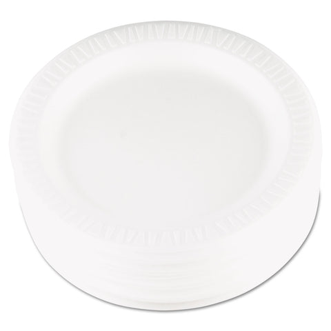 "Dart Quiet Classic Laminated Foam Dinnerware, Plate, 9"" dia, WH, 125/PK, 4 Packs/CT - White"