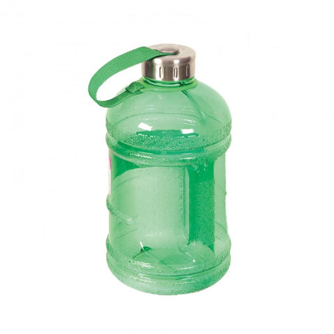 Drinking Water Bottle with Stainless Steel Cap - Green