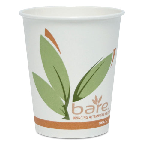 Bare by Solo Eco-Forward Recycled Content PCF Hot Cups, Paper, 10 oz, 300/Carton