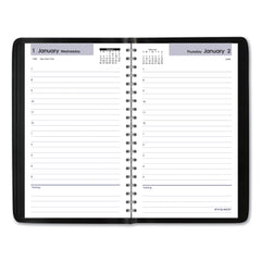 AT-A-GLANCE Daily Appointment Book with Hourly Appointments, 8 x 4 7/8, Black, 2020