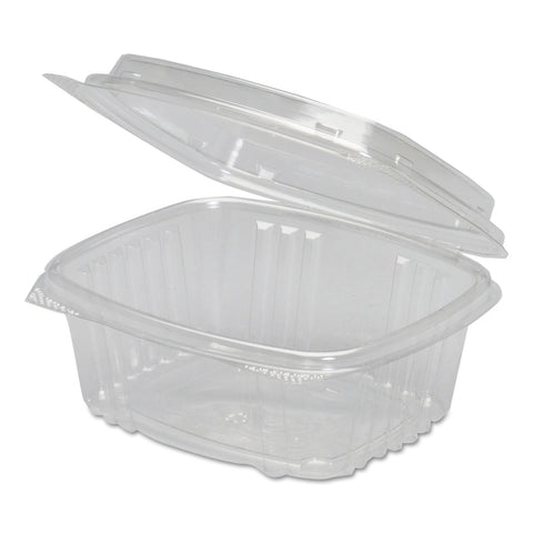 Genpak Clear Hinged Deli Container, Plastic, 12 oz, 5-3/8 x 4-1/2 x 2-1/2, 200/Carton