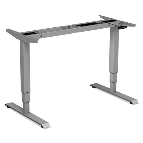 "Alera AdaptivErgo 3-Stage Electric Table Base w/Memory Controls, 25"" to 50.7"", Gray"