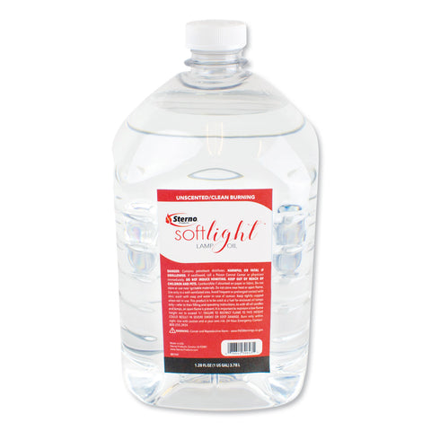 Sterno Soft Light Liquid Wax Lamp Oil, Clear, Gallon, 4 per Carton