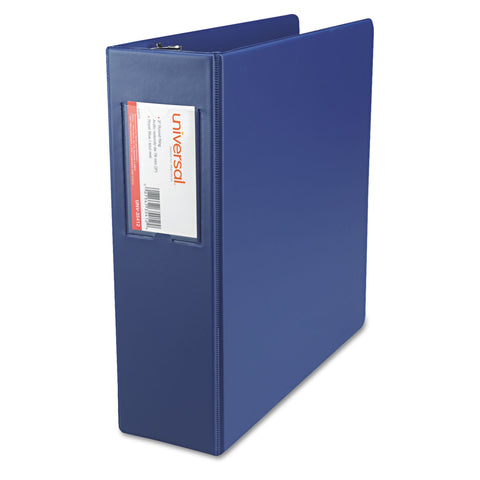 "Universal Economy Non-View Round Ring Binder, 3 Rings, 3"" Capacity, 11 x 8.5, Royal Blue"