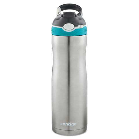 Contigo AUTOSPOUT Ashland Chill Water Bottle, 20 oz, Scuba, Stainless Steel