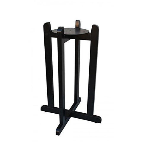 "For Your Water 27"" Natural Wood Painted Water Crock Dispenser Floor Stand - Black - Black / 27 Inches / Wood"