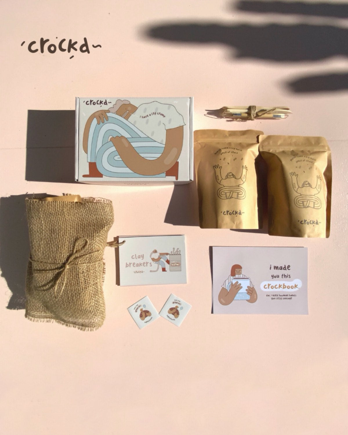Crockd DIY Pottery Kit (for 1-2 peeps)