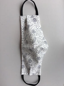 100% Cotton Face Mask - Irish Made - Black and White Pattern