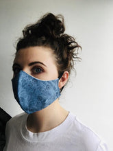 Load image into Gallery viewer, 100% Cotton Face Mask - Irish Made - Denim Pattern