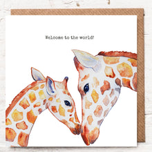 Load image into Gallery viewer, WELCOME TO THE WORLD - GIRAFFE