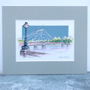 Personalised Albert Bridge London Print