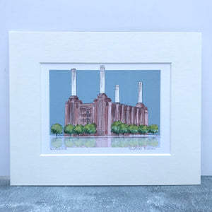 Personalised Battersea Power Station London Print