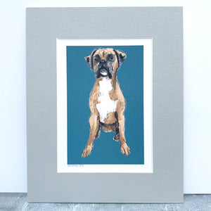 Personalised Boxer Dog Print