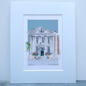 Personalised Chelsea Town Hall London Print