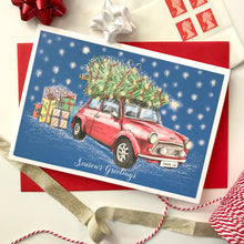 Personalised 'Driving Home for Christmas' Card