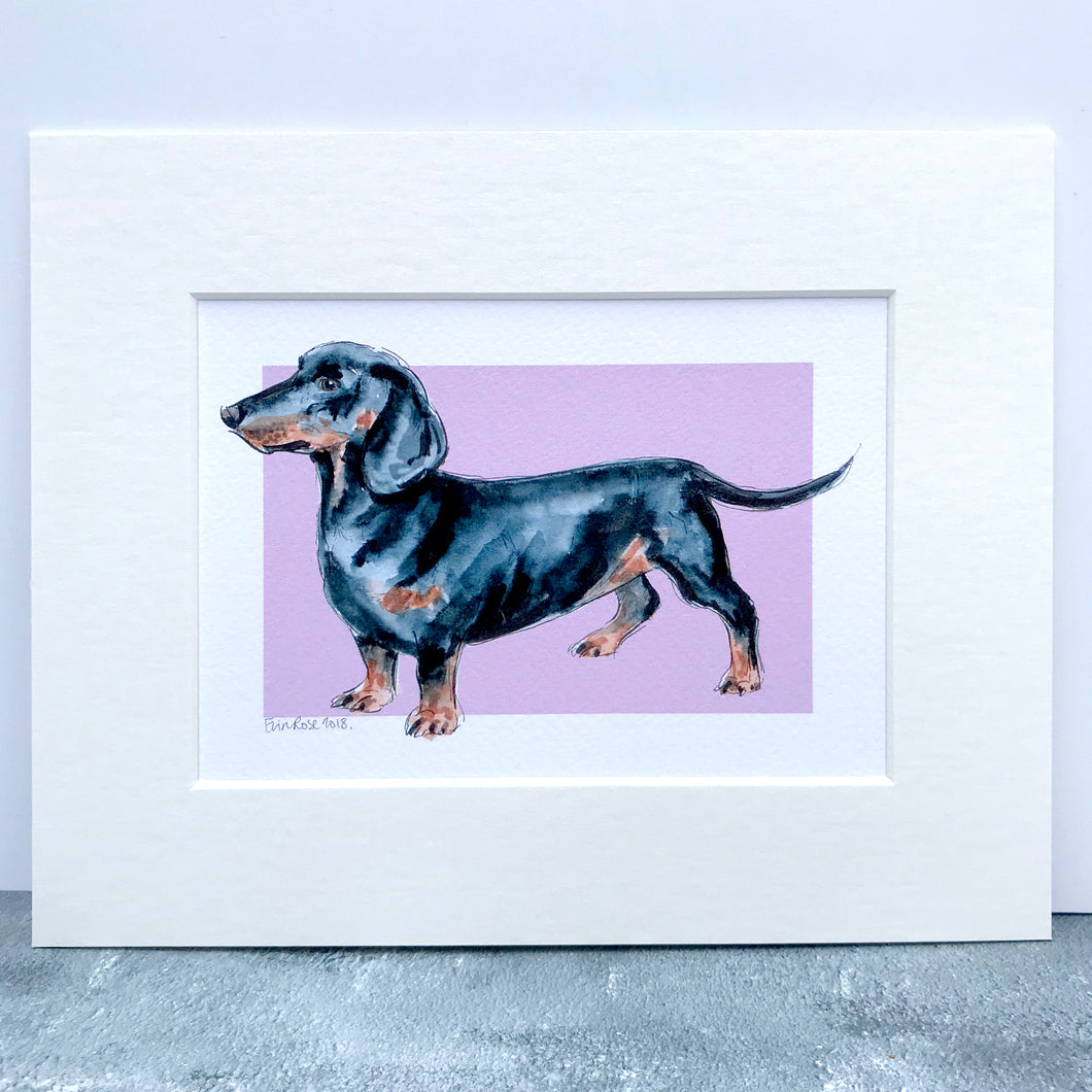 Personalised Dachshund Dog Print