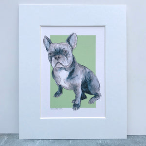 Personalised French Bulldog Print