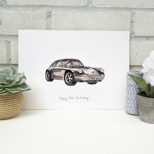Personalised Porsche Classic Car Print