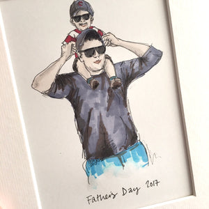 "Personalised ""Daddy & Me"" Illustration"