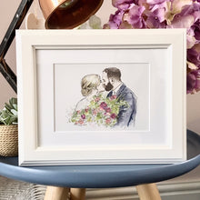Personalised Wedding Couple Hand Drawn Illustration