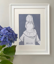 Daddy And Me 'Shoulder Ride' Print (little girl)