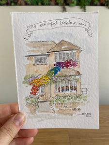 "Lockdown House Sketch ""Our Beautiful Lockdown Home"""