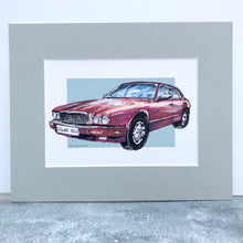 Personalised Jaguar Classic Car Print