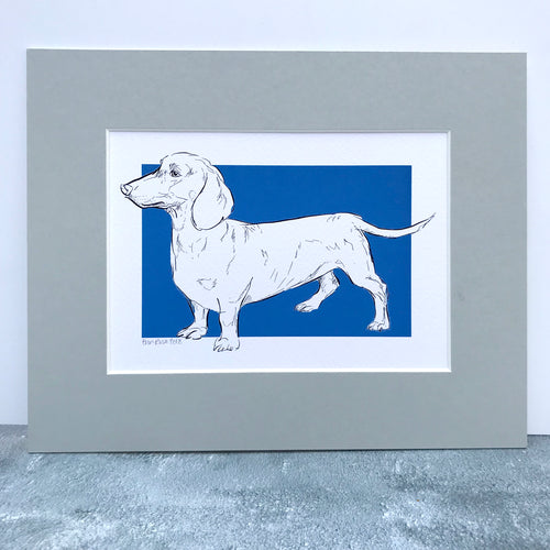 Personalised Dachshund Dog Line Drawing Print