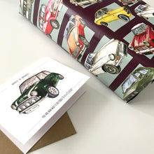 Classic Car Fathers Day Card and Wrapping Paper Set