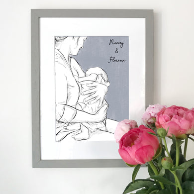 Mummy And Me 'Newborn Cuddles' Print