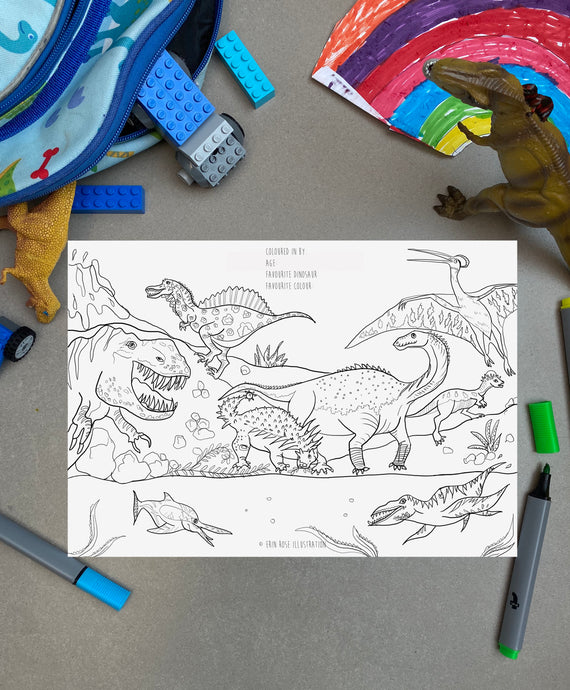 Dinosaur Colouring FREE Printable Download
