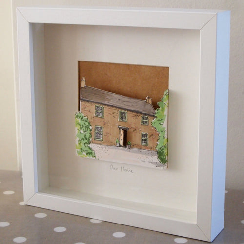 Personalised 3D Pop-Out House Illustration
