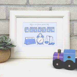 "Personalised ""Welcome to the World"" New Baby Print"