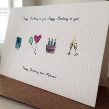 Personalised Hand Drawn Birthday Card
