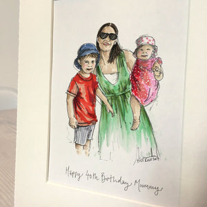 "Personalised ""Mummy & Me"" Illustration"