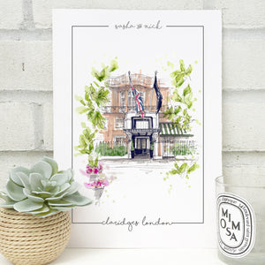 Personalised Claridges London Print