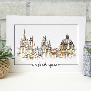 Personalised Oxford Spires Print