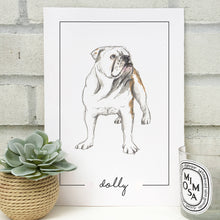 Personalised Bulldog Print