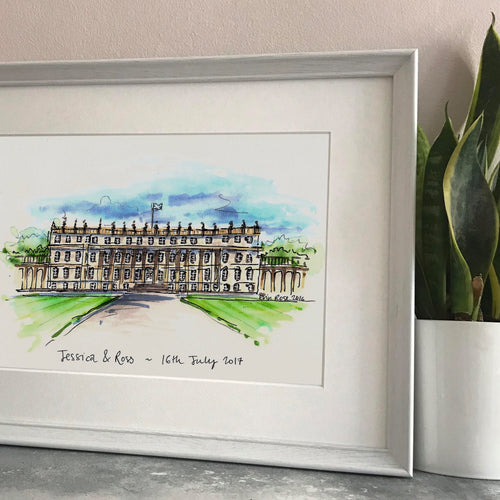 Personalised Wedding Venue Illustration