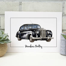 Personalised Bentley Classic Car Print