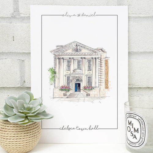 Personalised Chelsea Town Hall Print