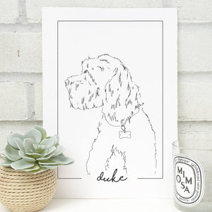Personalised Modern Pet Portrait