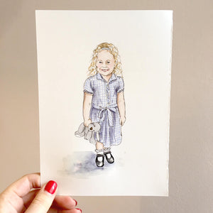 First Day Of School Hand-drawn Illustration