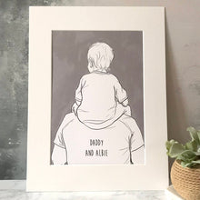 Daddy And Me 'Shoulder Ride' Print